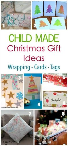 Christmas Child Made DiY Wrapping - Tags and Card Ideas Craft Activities For Kids, Christmas Activities, Projects For Kids, Diy For Kids, Crafts For Kids, Activity Ideas, Christmas Traditions, Christmas Child, Kids Christmas