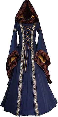 a03a4aa691e5 ChallengE Vestito Donna Abito Elegante Cerimonia Invernale Halloween  Medievale Renaissace Vintage Swing Dress Vestiti Abiti Donne