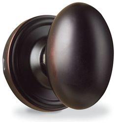 Oval, egg feeling oil rubbed bronze door knobs on room doors Doors, Oil Rubbed Bronze, Bronze, Kitchen Doors, Amazing Bathrooms, Door Handles, Sliding Glass Door, Farmhouse Doors, Traditional Doors