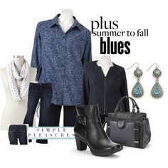 Fall Trends 2013 - Denim and Blues Fashion - Seattle Lifestyle Blog - summer into fall for the plus size woman