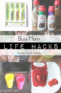 Busy Mom Life Hacks --- FamilyFreshMeals.com