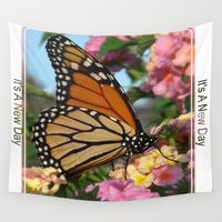"Beautiful Monarch Butterfly Wall Tapestry by Celeste Sheffey Of Khoncepts | ""It's a New Day"""