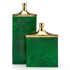 Morenci Vase from Z Gallerie - Love Malachite!  I also love gold and silver together.