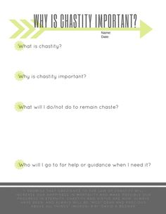 Why Is chastity important 791x1024 Why is chastity important? LDS youth lesson printable worksheet