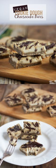 Cookie Dough Cheesecake Bars (Gluten-free, DAIRY-FREE, paleo-friendly, vegan) from Lexi's Clean Kitchen #paleo #desserts