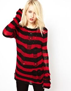 Tripp NYC Ragged Striped Jumper. I've been on a red kick lately, think I might be obsessed with this item of clothing.
