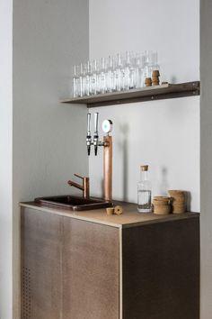 Usine Restaurant Stockholm by Richard Lindvall - water station Bistro Design, Cafe Design, Design Design, Concept Restaurant, Restaurant Design, Station Restaurant, Modern Restaurant, Cafe Bar, Bar Embutido