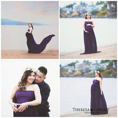Cloe purple closed front maternity chiffon gown/modelling/senior props/maternity props/with or without lining Maternity Gowns, Chiffon Gown, Couples, Couple Photos, Purple, Model, Wedding, Design, Couple Shots