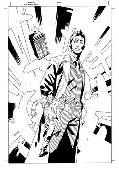 a collection of doctor who fan art as coloring pages