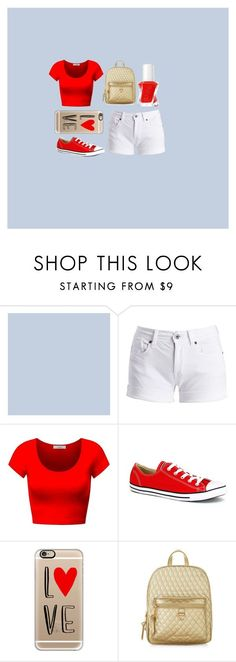 """East High Spirit"" by ashaylam on Polyvore featuring Barbour International, Converse, Casetify, Accessorize and Essie"