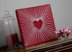 How to make a String Art Heart the easy way
