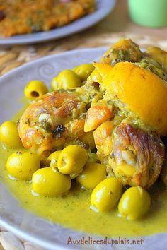Tajine de poulet au citron confit et olives (cuisine marocaine)