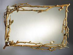 Magnolia Mirror: Bill Masterpool: Metal Mirror - Artful Home