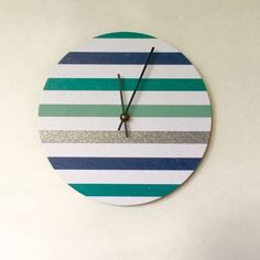 Modern wall clock....with a little sparkle.