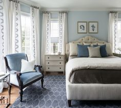 Wall color is Glass Slipper by Benjamin Moore. Via Heather Scott Home