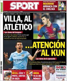 Los Titulares y Portadas de Noticias Destacadas Españolas del 9 de Julio de 2013 del Diario Deportivo Sport ¿Que le parecio esta Portada de este Diario Español?