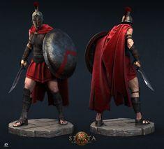 "Peltast. Made for ""Sparta:War of Empires"" social game by Plarium."