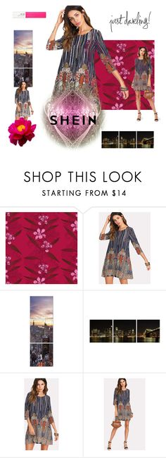 """""""little bit of everywhere shein"""" by rachel-hack-1 ❤ liked on Polyvore featuring Timorous Beasties, Elementem and Maybelline"""
