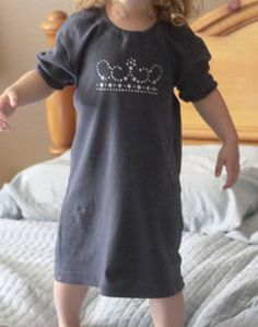 A Little Princess Upcycled Nightie - Not only does this simple tutorial deliver a much loved nightgown to your daughter, it teaches you how to upcycle a man's shirt to reduce waste in your home.