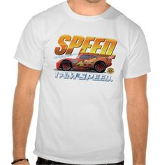 "Cars' Lightning McQueen ""I Am Speed"" Disney T Shirt"