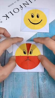 Paper Crafts Origami, Easy Paper Crafts, Diy Paper, Art For Kids, Crafts For Kids, Arts And Crafts, Diy Crafts Hacks, Diy Projects, Cute Emoji Wallpaper