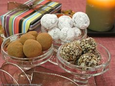 Easy, fabulous truffles that can be coated with something seasonal (like peppermint at Christmas time).
