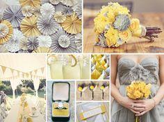 Yellow and Gray Wedding.  #mariage #jaune et #gris sur notre site: http://www.feezia.com/univers/themes/mariages-et-baptemes/mariage-jaune-gris.html?p=1