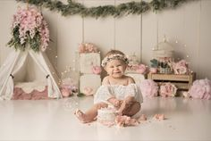 Girls Dresses, Flower Girl Dresses, Cake Smash, Wedding Dresses, Flowers, 1 Year, Fashion, Dresses Of Girls, Bride Dresses