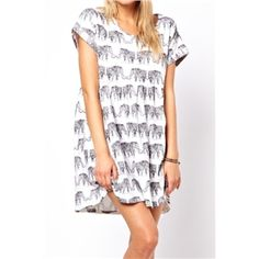 Oversized Elephant Print Dress | pariscoming