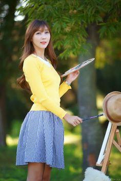 CuteKorean: Lee Yoo Eun outdoor