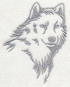 Machine Embroidery Designs at Embroidery Library! - wolf 12616