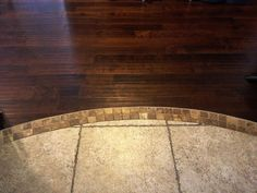 Image result for tile as transition to carpet from hardwood