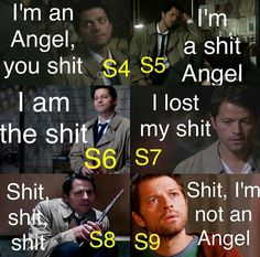 That  describes Cas for those seasons perfectly