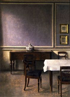 VILHELM HAMMERSHOI  Interior with Punchbowl