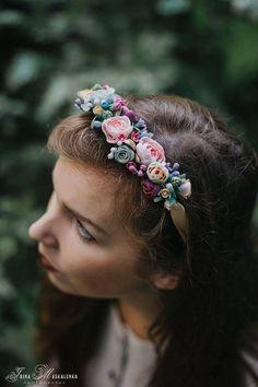 Vivid piece 2IN1. Necklace Hair tiara.