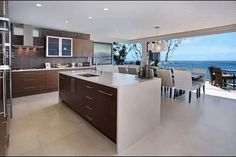ocean view kitchen | Kitchen with an ocean view