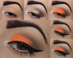 Gorgeous Orange Makeup