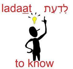 to know #hebrew יוֹדֵעַ  יוֹדַעַת  יוֹדעִים  יוֹדעוֹת #learnhebrew