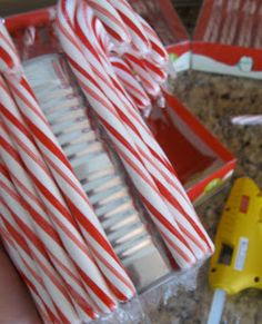 DIY Candy Cane Vase - Living Well Spending Less®