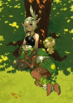 Evangelyne and Amalia by kosal.deviantart.com on @DeviantArt