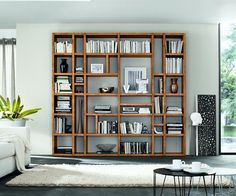 FGF Mobili KS14 Bücherregal standregal regal massivholz parawood wohnzimmer
