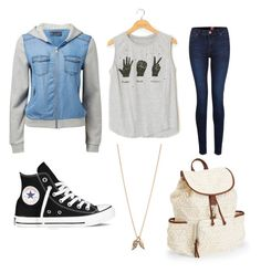"""Untitled #272"" by camila-arellano ❤ liked on Polyvore featuring Converse, Forever New, Minor Obsessions and Aéropostale"