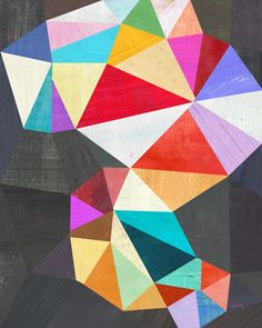 Geometric Abstract Print by twoems on Etsy, $26.00