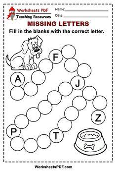 Missing Letter Worksheets, Beginning Sounds Worksheets, Letter Tracing Worksheets, Fractions Worksheets, 1st Grade Worksheets, Free Printable Worksheets, Writing Worksheets, Kindergarten Worksheets, Worksheets For Kids