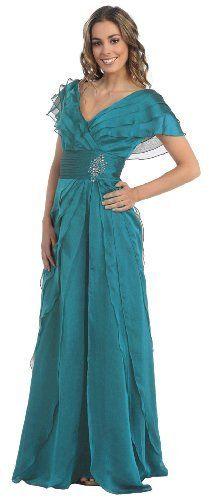 Mother of the Bride Formal Evening Dress #831 (Medium, Teal) US Fairytailes, http://www.amazon.com/dp/B0088ERHQ0/ref=cm_sw_r_pi_dp_noadrb0ZFN18W $139.99
