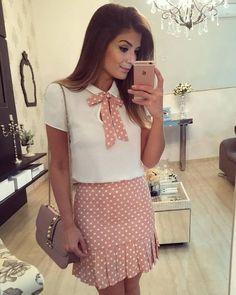 {Do dia} Look todo Skirt Outfits, Dress Skirt, Cool Outfits, Casual Outfits, Fashion Outfits, Womens Fashion, Office Outfits, Casual Looks, Dress To Impress