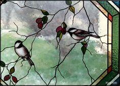 Birds - big sky stained glass