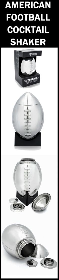 If you've ever thought what to get the football fan in your life, look no further! American Football Cocktail Shaker with 'Kickoff Tee' Styled Stand has a great design and functionality! Football fans would love to have something like this in their collections.