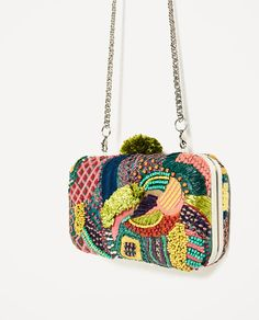 Image 5 of MULTI-COLORED FABRIC MINAUDIERE from Zara