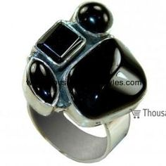 Arely 925 Sterling Silver hi fashion Thousand dollar style Onyx Ring for women